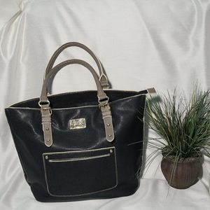 Kenneth Cole Reaction Purse Large Black Tote